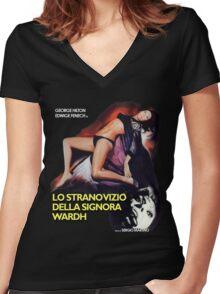 Lo strano vizio della Signora Wardh Women's Fitted V-Neck T-Shirt