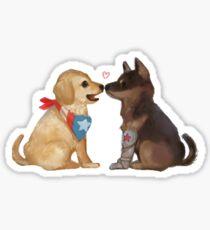 dog Steve and Bucky  Sticker