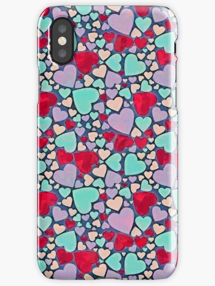 Sweet hearts mosaic pattern by CatyArte