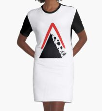 Running From Boulders Road Sign Graphic T-Shirt Dress