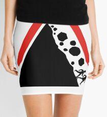 Running From Boulders Road Sign Mini Skirt