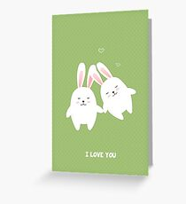 Bunnies in love Greeting Card