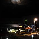 Eastern Beach Under The Moon by Mick Kupresanin