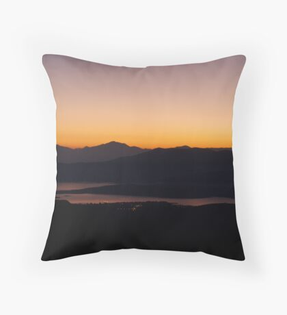 all the city was sleeping... Throw Pillow