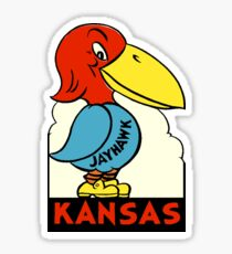 Kansas Jayhawk State Vintage Travel Decal Sticker