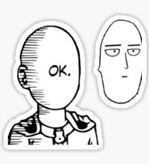 One Punch Man - OK (reversed) Sticker