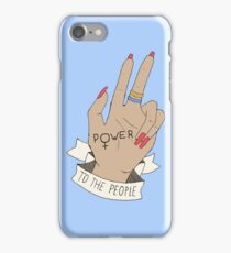 POWER TO THE PEOPLE iPhone Case/Skin