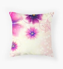 Purple flowers design 2 Throw Pillow
