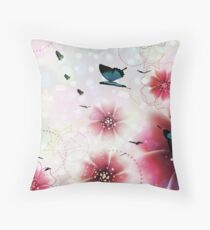Purple flowers design 4 Throw Pillow