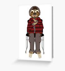 Everyday Sloths: Bertie Greeting Card