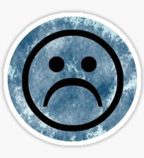 Sad Face - Blue Sticker