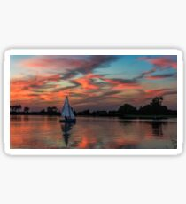 Peaceful Sail  Sticker