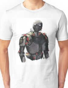 K2-S0 with mint leaves and poppies Unisex T-Shirt