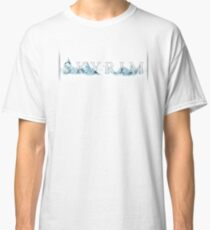 Skyrim Skyline (with background) Classic T-Shirt