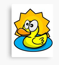 Silly Rubber Ducky Canvas Print