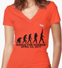 March For Science Women's Fitted V-Neck T-Shirt