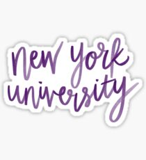 New York university NYU Sticker