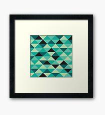 Green Pixel Art Pattern Framed Print