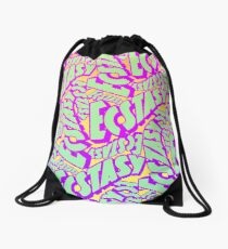 'Ecstacy' 70's Psych Poster Fade Pattern Drawstring Bag