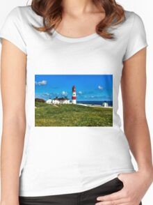 Souter Lighthouse Women's Fitted Scoop T-Shirt