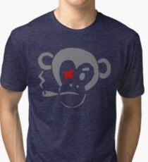 Smoking Monkey - X Tri-blend T-Shirt