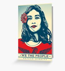 We the people defend dignity Greeting Card