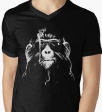 Smoking Monkey - Oldschool Mens V-Neck T-Shirt