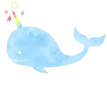 UniWhale Narwhal Funny Unicorn Rainbow Sparkles Graphic  (Unicorn of the Sea) by DesIndie