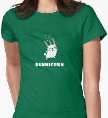 BunniCorn Unicorn Funny Bunny Rabbit Easter Cute Unique Kawaii Graphic Tee Shirt Womens Fitted T-Shirt