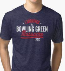 I survived the Bowling Green Massacre Funny Trump Tri-blend T-Shirt
