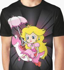 Yoshi and Chibi Peach Graphic T-Shirt