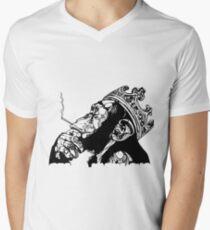 Smoking Monkey - KING Mens V-Neck T-Shirt