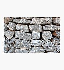 Stone wall Photographic Print