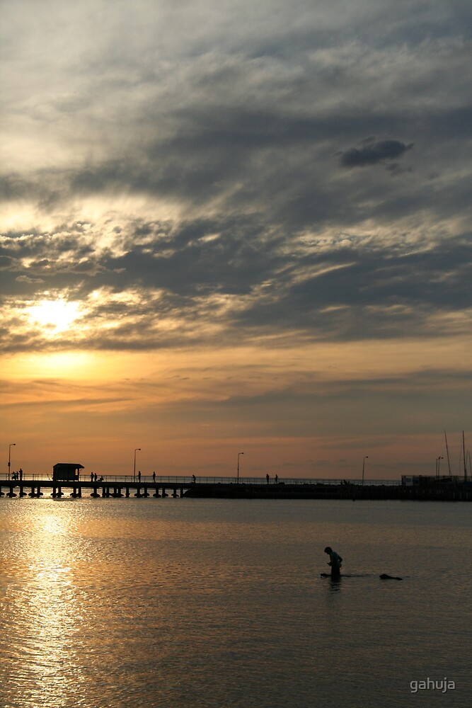 Beach Sunset by gahuja