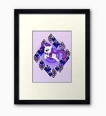 Rarity Diamonds Framed Print