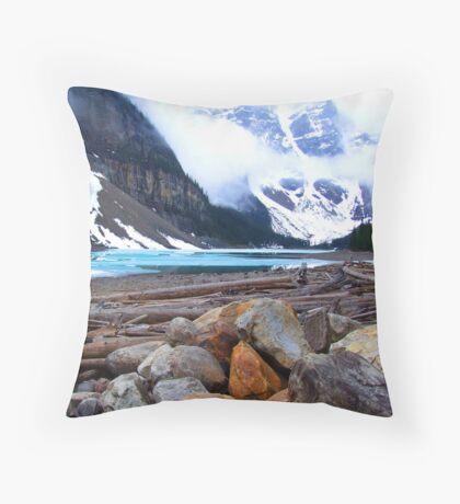 Moraine Lake, Canada Throw Pillow