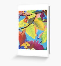 Vine Leaves By Coralie Newman Greeting Card
