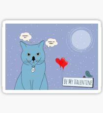 Valentine cat Sticker