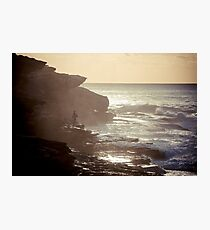 Bodyboarder looking for his wave Photographic Print