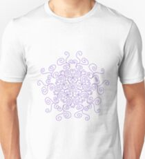 Swirl Purple Line Pattern T-Shirt