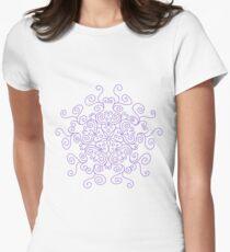 Swirl Purple Line Pattern T-Shirt