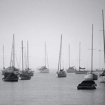 Sailing boats in fog by halans