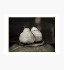 two pears Art Print