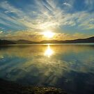 The Wallis Lake sunset by Sandro Rossi