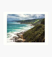 Coastline west of Lorne Art Print