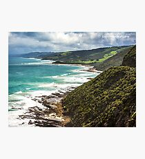 Coastline west of Lorne Photographic Print
