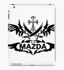 MAZDA grunge iPad Case/Skin
