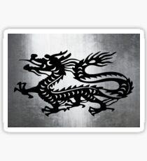 Vintage Metal Dragon Sticker