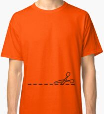 Cut Along The Dotted Line Classic T-Shirt