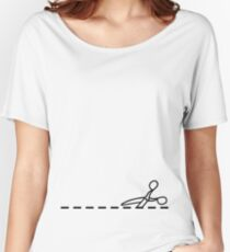 Cut Along The Dotted Line Women's Relaxed Fit T-Shirt